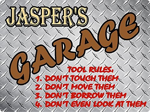 - JASPER Garage tool rules diamond plate design parking décor sign 9