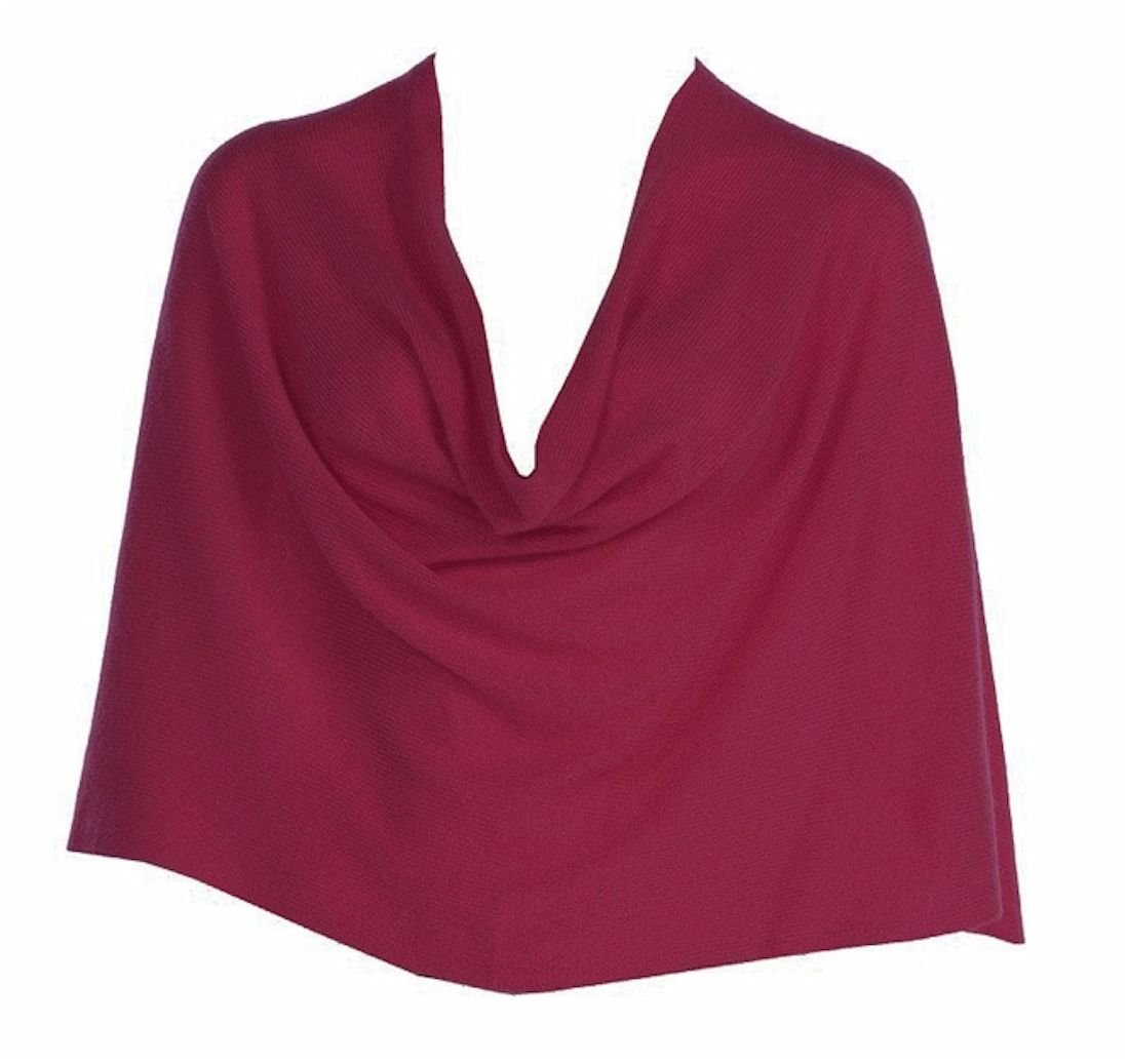 Hard Tail Tees by Tina Cashmere Ruana - Sangria (One Size Fits Most, Sangria)