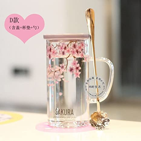 WU-Mug Flor de Cerezo japonés cup personalidad creadora de un resistente al calor de