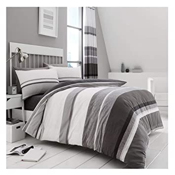 Hudson Check Complete Bedding Set Duvet Cover With 2 Pillowcases+Fitted Sheet