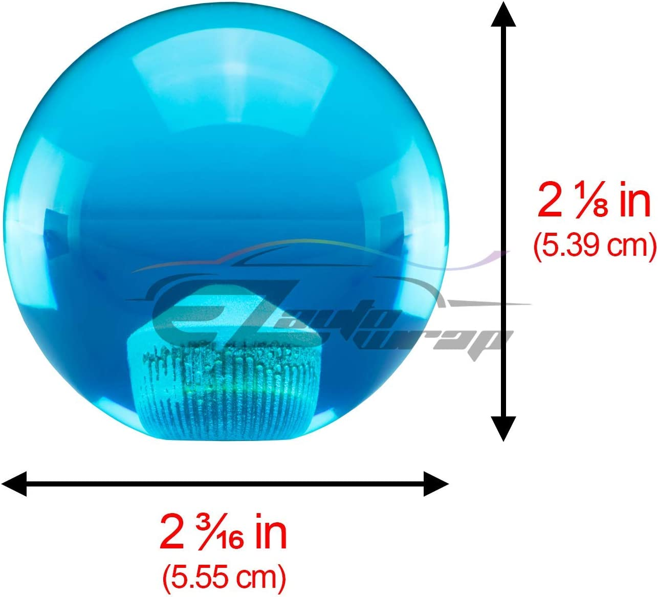 EZAUTOWRAP Universal Blue Dragon Ball Z 5 Star 54mm Shift Knob with Adapters Will Fit Most Cars
