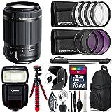 Tamron 18-200mm Di II VC Lens for Canon + Speedlite 430EX III-RT + UV-CPL-FLD Filters + Macro Filter Kit + 72 Monopod + Lens Hood + 16GB Class 10 + Backpack + Spider Tripod - International Version