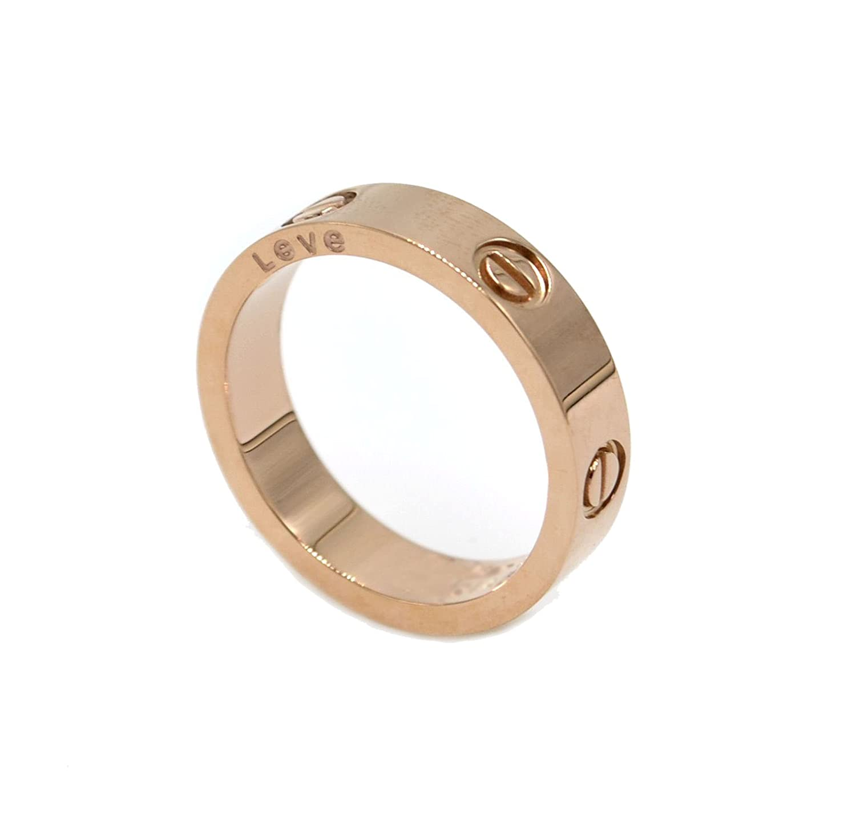 briller de luxe célébrité amour bague en or rose plaqué pour les femmes hommes Sefilko CartiRingRose