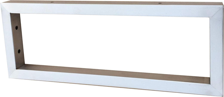 Sunload Consola para lavabo (acero inoxidable cepillado, 500 x 150 mm)