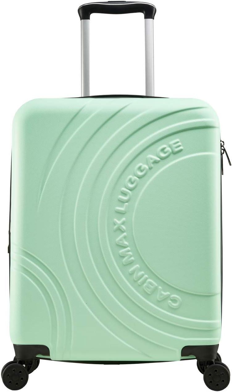 Blanc Polaire Approuv/é par Voli Ryanair Cabin Max Velocity Valise /à 4 Roues Rigide Ultra L/ég/ère |Valise Bagage de Cabine en ABS Solide 55x40x20 avec Zip Extensible /à 55x40x25 EasyJet BA