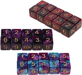 IPOTCH 30 Pedazos Juego de Mesa Dado de Números 6 Caras Juguete Divertido para niños Adultos: Amazon.es: Juguetes y juegos