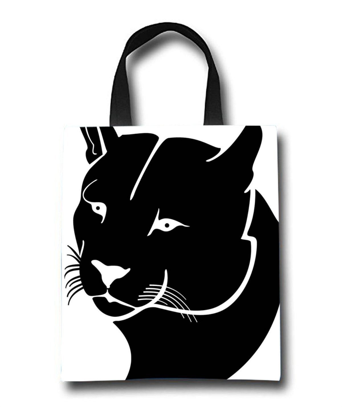 Black Cheetah Beach Tote Bag - Toy Tote Bag - Large Lightweight Market, Grocery & Picnic