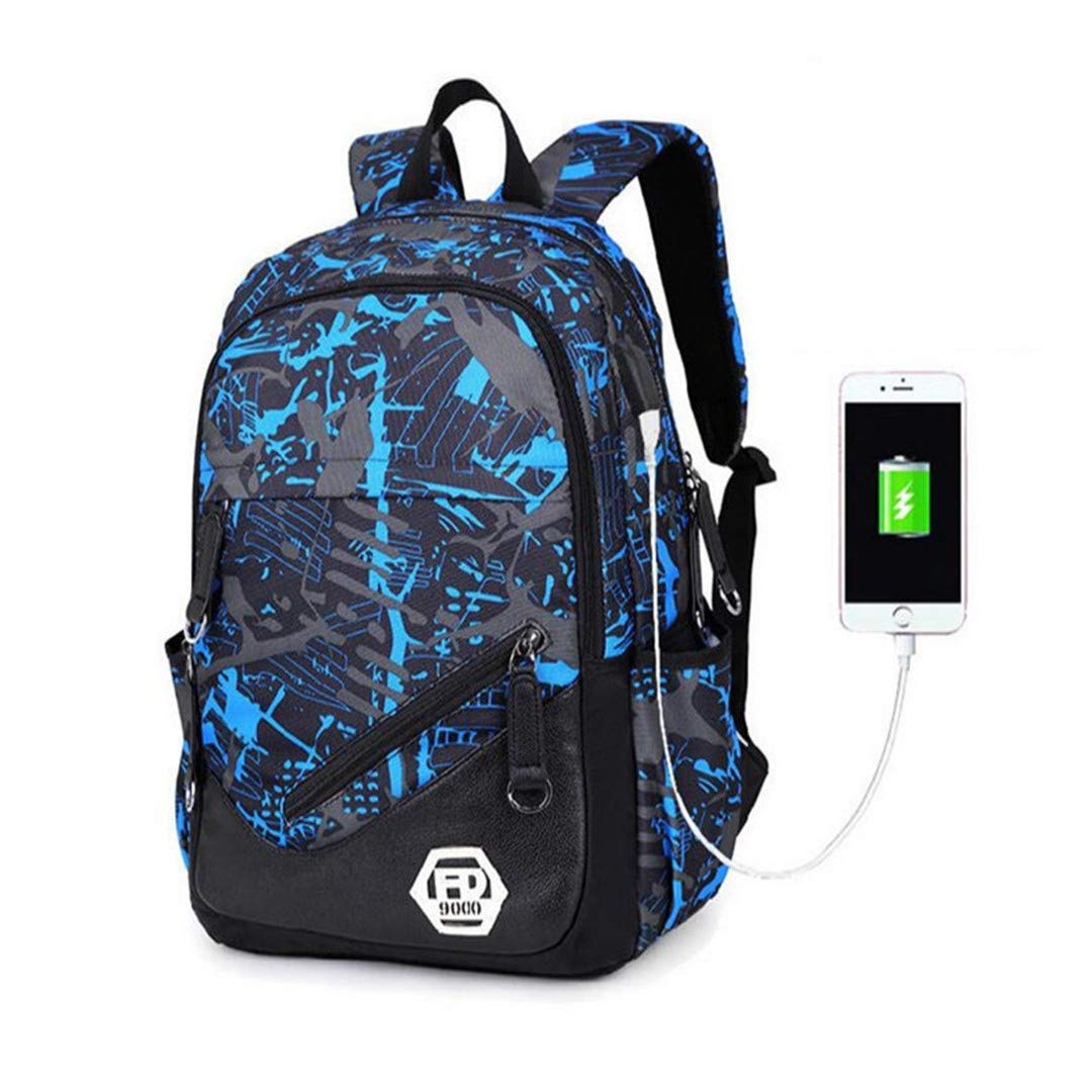 C3a 1pc One_Size Women USB Backpack Travel Bags Female Small Sling Chest Bag Set External Charging Notebook Bag Girls School Backpack C3A 1pc