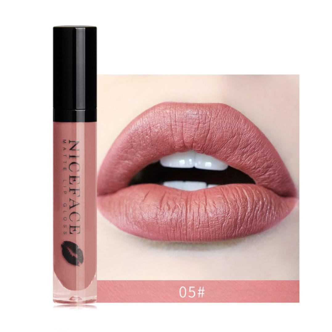 Rouge À Lèvres Sonnena 2018 Nouvelle Lip Lingerie Matte Liquide Lip Imperméable À L'eau Maquillage Shades Gloss 12 Teintes Rouge/Noir/Gris/Brun (Standard, A)