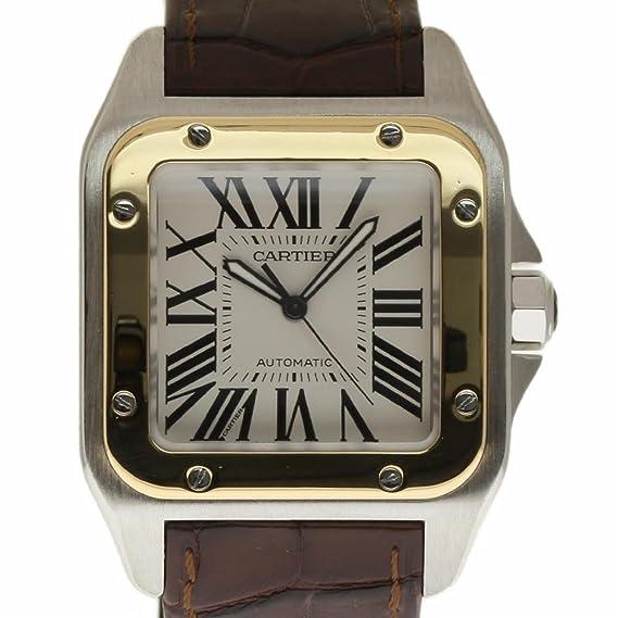 Cartier Santos 100 Swiss-Automatic Mens Reloj w20072 X 7 (Certificado) de Segunda Mano: Cartier: Amazon.es: Relojes