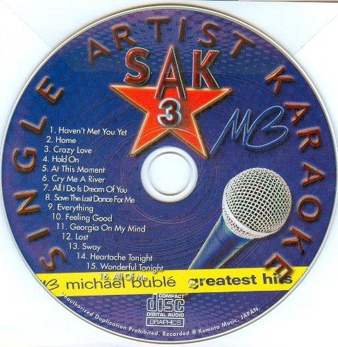 Michael Buble Karaoke Cd - Hits of MICHAEL BUBLE Single Artist Karaoke CDG SAK #3