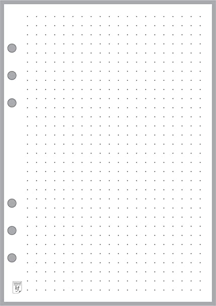 amazon com a5 size dot grid paper refill 5mm sized and punched