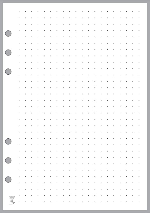 graphic about A5 Dot Grid Printable named A5 Measurement Dot Grid Paper Refill (0.25\