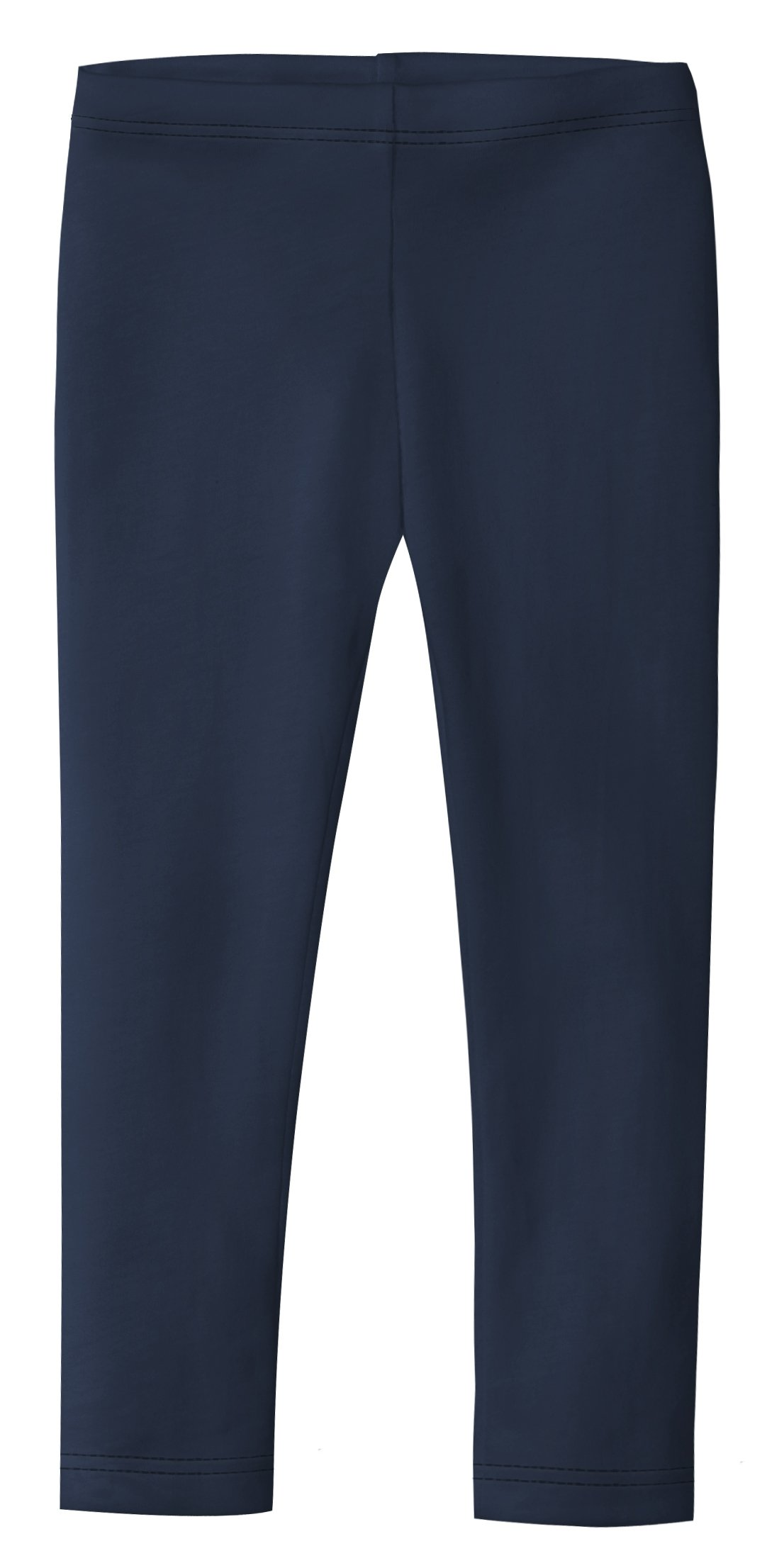 City Threads Girls' Leggings 100% Cotton for School Uniform Sports Coverage or Play Perfect for Sensitive Skin or SPD Sensory Friendly Clothing, Navy, 10 by City Threads