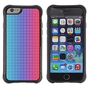 Pulsar iFace Series Tpu silicona Carcasa Funda Case para Apple (4.7 inches!!!) iPhone 6 , Disco Modelo de puntos Tela Ilusión Azul Rojo Led""
