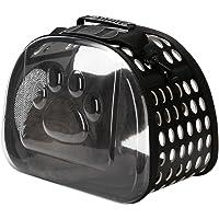 laamei Transportín para Mascotas Perros Gatos Bolsa de Transporte Plegable Transpirable Portátil Exterior Viaje Carrier Bolso(42x26x35cm)