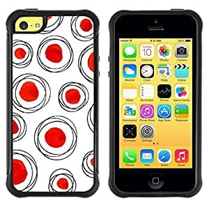 Suave TPU GEL Carcasa Funda Silicona Blando Estuche Caso de protección (para) Apple Iphone 5C / CECELL Phone case / / Dot Red Polka White Clean /