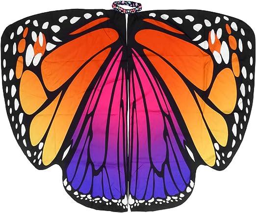 LIOOBO alas de Mariposa para Mujer - Capa de Halloween - Accesorio ...