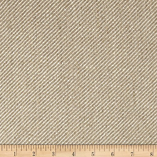 Quality Linen 100% European Linen Twill Upholstery Fabric, Oatmeal ()