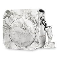 Fintie Protective Case for Fujifilm Instax Mini 9 / Mini 8 / Mini 8+ Instant Camera - Premium Vegan Leather Bag Cover with Removable Strap, Marble