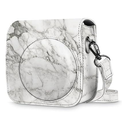 42c2d3d9f3d9 Amazon.com   Fintie Protective Case for Fujifilm Instax Mini 8 Mini 8+ Mini  9 Instant Camera - Premium Vegan Leather Bag Cover with Removable Strap