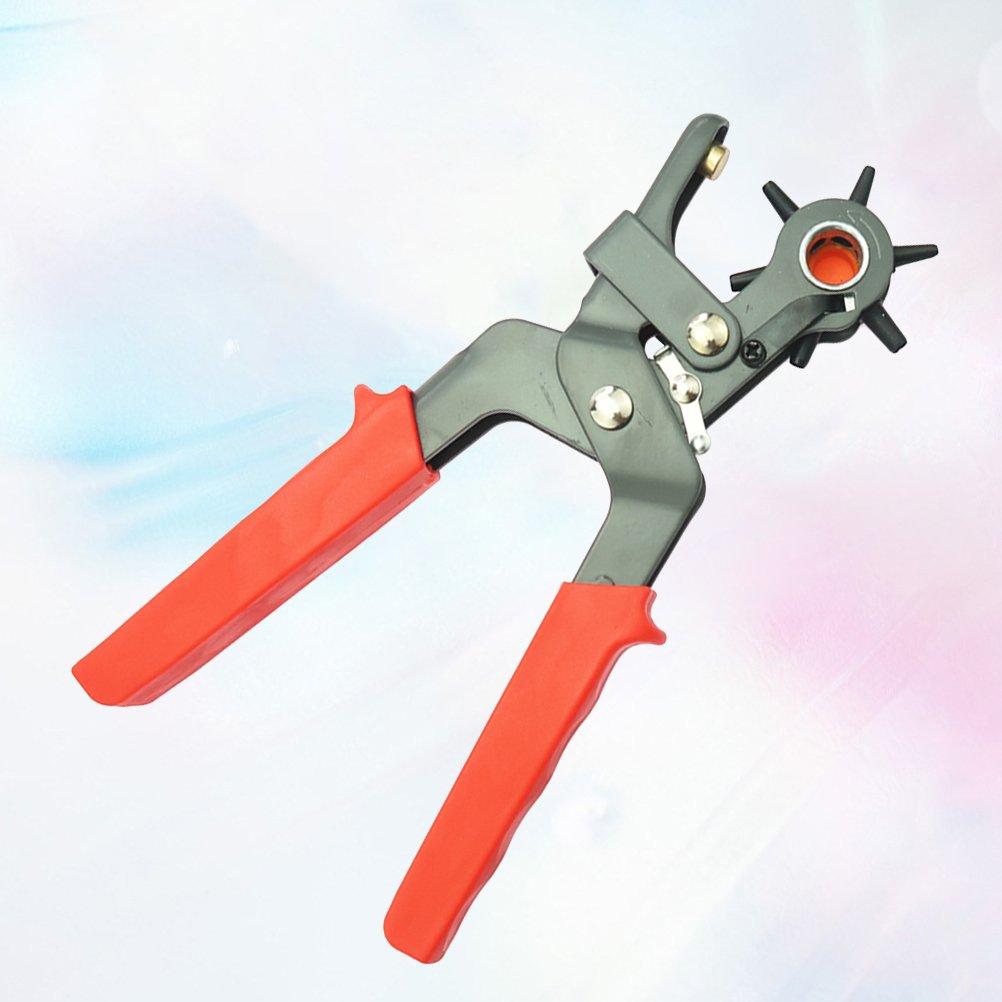 Healifty Cinturón Agujero Perforadora Alicate Sacabocados para Cuero Giratorio Perforadora Alicates Tenaza Perforadora 6 Redondo Tamaños: Amazon.es: Hogar