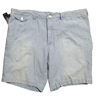 aa38f3a3ee Image Unavailable. Image not available for. Color: Polo Ralph Lauren Flat  Front Light Wash Denim Shorts (36)