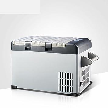 DEE Mini Refrigerador Congelado del Compresor 25L Mini Refrigerador Casero del Hogar de la Refrigeración Casera del Dormitorio del Dúo,Figura,25L: ...