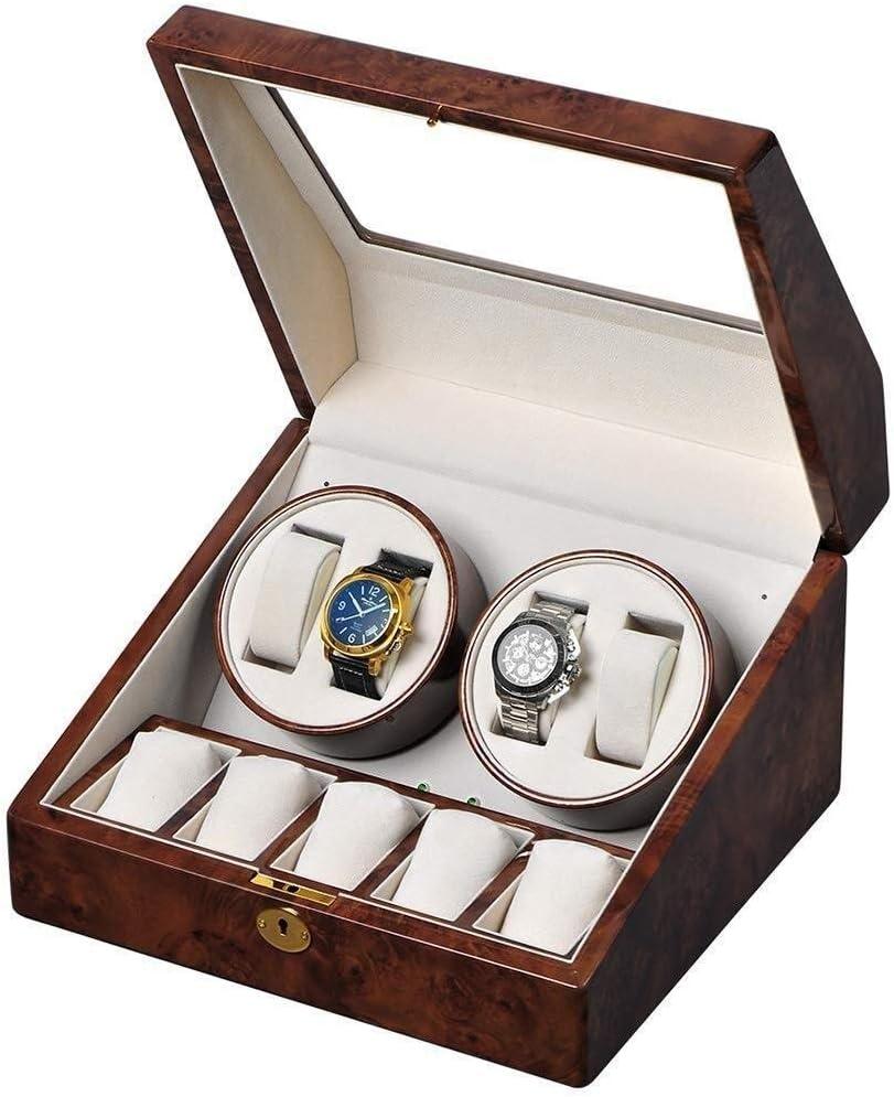 ギフトウォッチワインダーウォッチワインダー、自動超静音+ 6 4エピトープ回してモーターボックス防止ザ・ウォッチBoxs巻き機械式腕時計の停止から