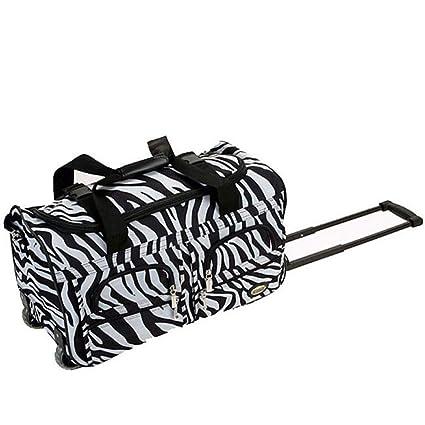 Amazon.com: Bolso de viaje con diseño de rayas de cebra para ...