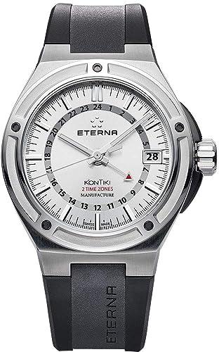 Eterna Royal KonTiki GMT 7740.40.11.1289 - Reloj de Pulsera para Hombre, analógico, automático: Amazon.es: Relojes