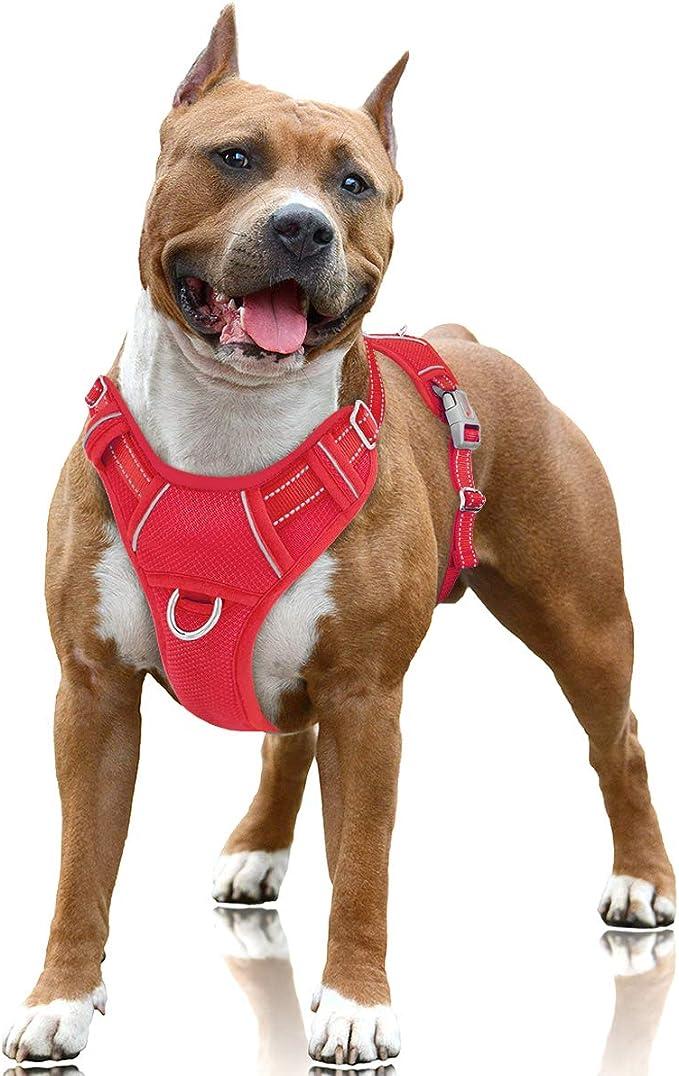 BARKBAY Reflective Dog Harness for Walking, Training & Running