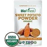 Biofinest Sweet Potato Powder -100% Pure Antioxidants Superfood - USDA Certified Organic Kosher Vegan Raw Non-GMO - Boost Digestion Weight Loss Detox - For Smoothie Beverage (4 oz Resealable Bag)