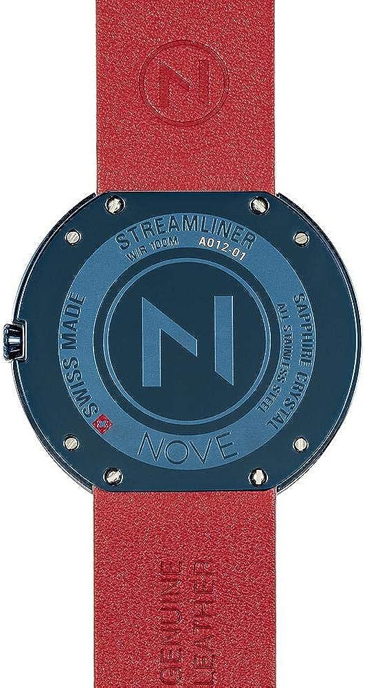 Montre à Quartz NOVE Streamliner fabriqué en Suisse pour Hommes et Femmes… White Blue