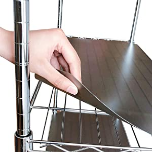 "BRIAN & DANY 14"" X 30"" Wire Shelf Liners Value Pack of 5, Industrial Strength Thick Verson(0.65mm Flat VS 0.4mm Rolled)"