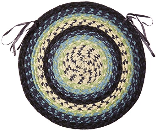 Earth Rugs 45-312 Blueberry-Creme Round Chair Pad