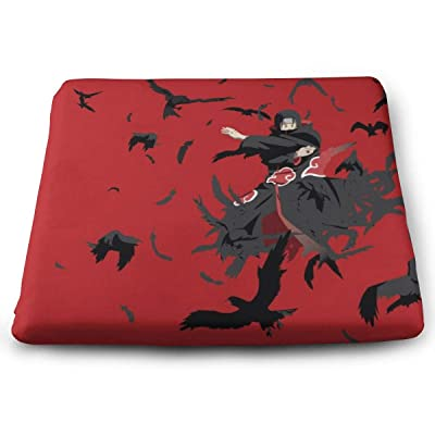 Naruto Square Cushion Thick Large Soft Mat Floor Pillow Seating for Home Decor Garden Party for Chair Pads 15x13.7x1.2Inch: Office Products