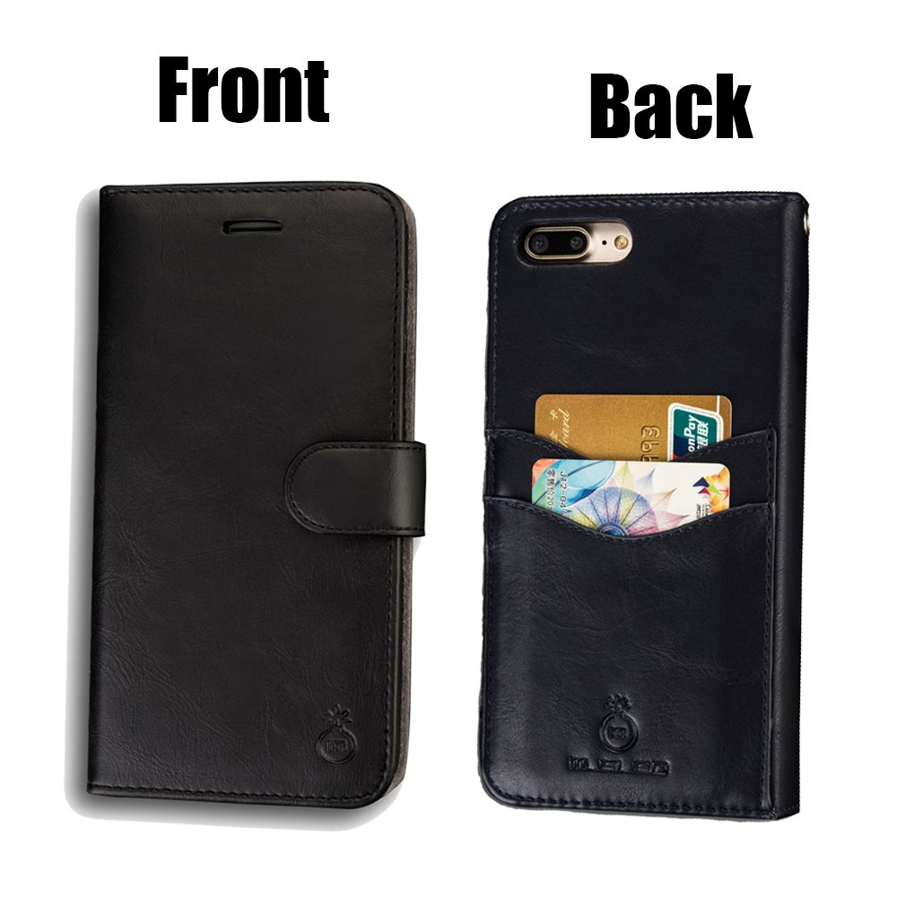 new concept 77531 23527 Mens iPhone 6 Plus Wallet Case,iPhone 6s Plus Wallet Phone Cover Folio Flip  Cell Case Leather Case with Detachable PC Box Case Cell Phone Cover Bag ...
