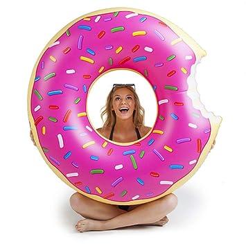 Sucastle Flotador Inflable para Piscina con Forma de Donut, con para Adultos niños Playa Fiestas de Piscina Juegos Decoraciones de salón ...