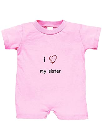 Amazoncom I Love My Sister With Red Heart 100 Cotton Infant Baby