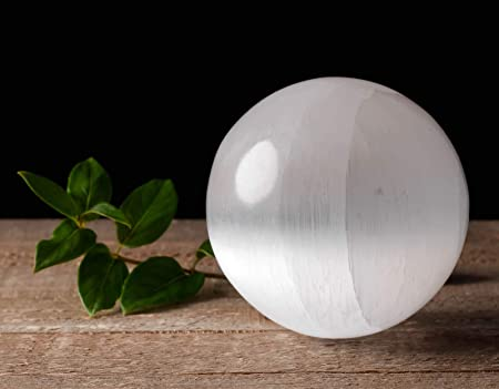 White SELENITE Sphere XXl Size Selenite Crystal Sphere E0491