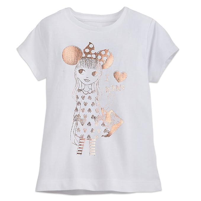 a1ac17d2ae0 Amazon.com: Disney Minnie Mouse Fan T-Shirt For Girls Size XXS (2/3 ...