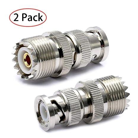 TengKo BNC Macho a UHF Hembra SO-239 SO239 Adaptador Conector RF Coaxial Adaptador para