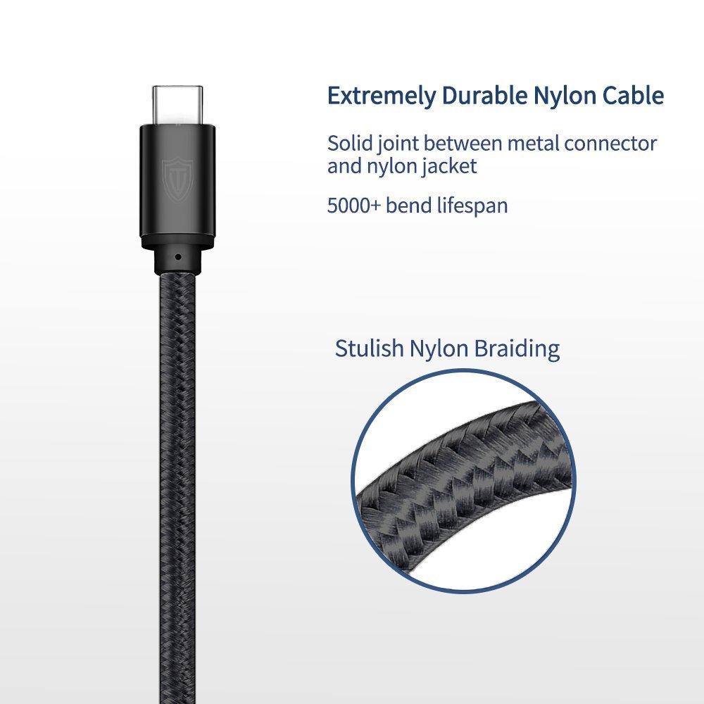 USB C Kabel auf USB 3.0Homore (6.6ft) lebenslange Garantie USB 3.1 Nylon Datenkabel Ladekabel für Typ C Geräte wie Samsung Galaxy S9+ / S9 / S8+ / S8 , MacBook Pro 2016 , HUAWEI P10/9 usw.