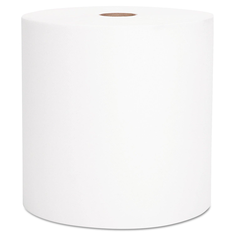 Kimberly-Clark 10191 Scott Hard Roll Towel, 1000' Length x 8'' Width, White (Case of 6 Rolls)