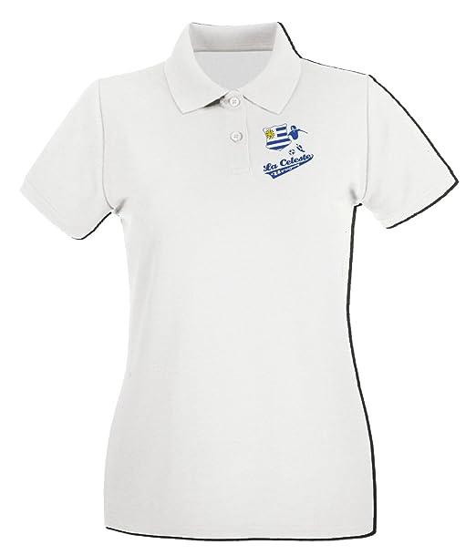 T-Shirtshock - Polo para mujer WC0119 URUGUAY LA CELESTE., Talla S