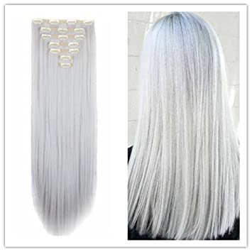 Clip in Hair Extensions Synthetic Piece Natural