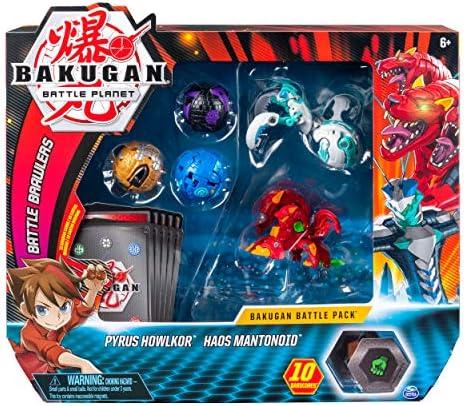 Spin Master Bakugan Battle Pack 5-Pack - Pyrus Howlkor and Haos ...