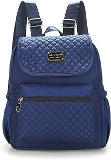 Women Nylon Shoulder Bags, Veriya Lightweight Waterproof Casual Travel School Backpack Rucksack Student Schoolbag Multipurpose Daypack for Teenager Ladies --Large Capacity (Dark Blue)
