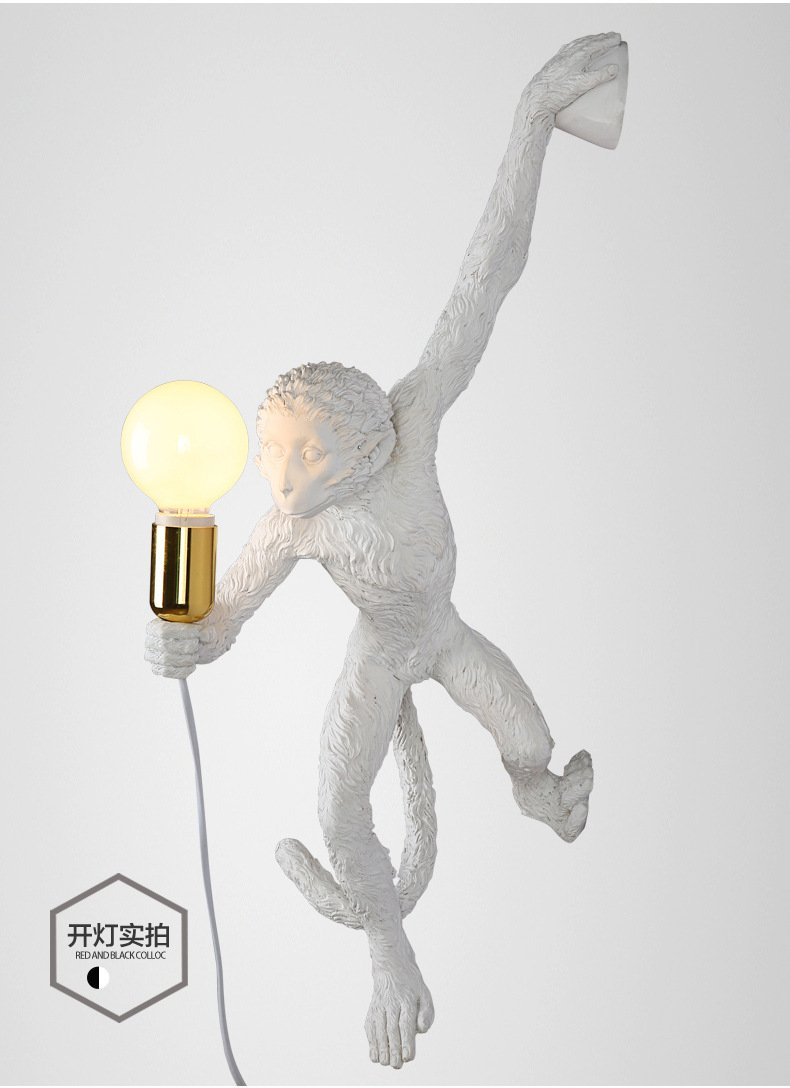 LINA-Industrial Retro Vintage style Farmhouse Industry Steam Punk Water Pipe Wall Sconce wall light lamp Monkey resin Wall lamp (560150130mm) by LINA chandelier (Image #4)